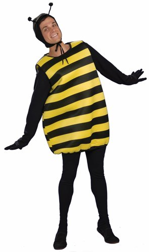 Forum Novelties Men's Honey Mooners Bee Costume, Black/Yellow, One Size