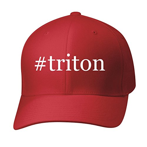 BH Cool Designs #Triton - Baseball Hat Cap Adult, Red, Small/Medium