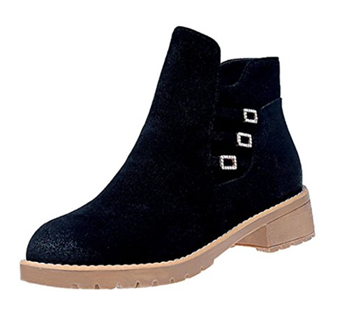 KUKI autumn women boots high-heeled Martin boots cheap women's boots round head shorts women's shoes , US8 / EU39 / UK6 / CN39