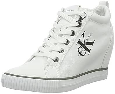 Calvin Klein Ritz, Women's Fashion Sneakers, White, 39 EU