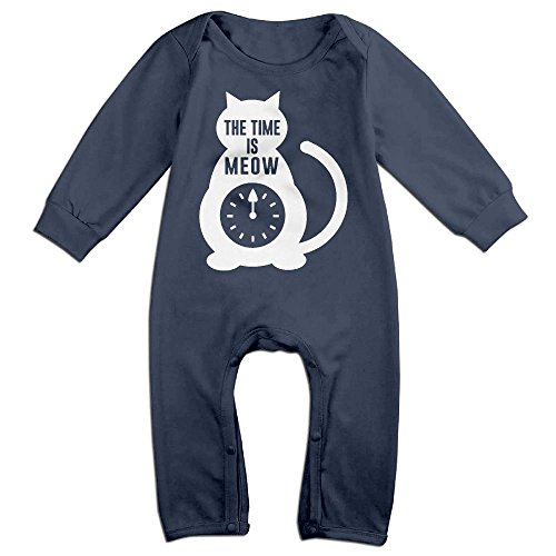 Magic Man Costume Adventure Time (Newborn Baby Time Is Meow Long Sleeve Climb Jumpsuit 12 Months Navy)