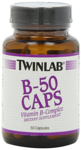 Twinlab B-50 Caps, Vitamin B-Complex, 50 Capsules (Pack of 4) by Twinlab