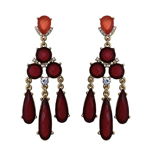 Rosemarie Collections Women's Deco Style Statement Chandelier Earrings (Collection Chandelier Earrings)