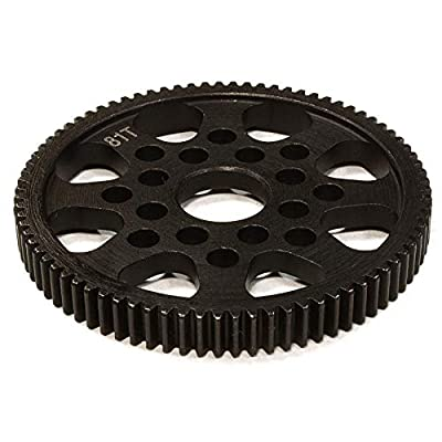 Integy RC Model Hop-ups C26294 Billet Machined Steel 81T Spur Gear for HPI 1/10 Sprint 2 On-Road: Toys & Games