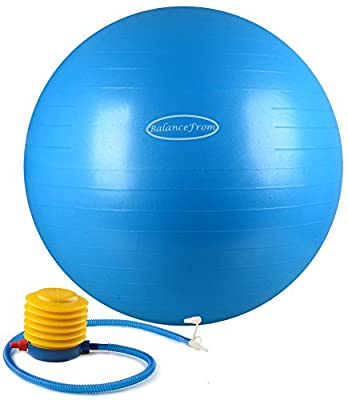 BalanceFrom Anti-Burst and Slip Resistant Fitness Ball with Pump from BalanceFrom