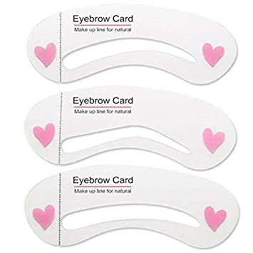 Amazon 6 Pcs New Eyebrow Template Stencil Tool Makeup Eye Brow