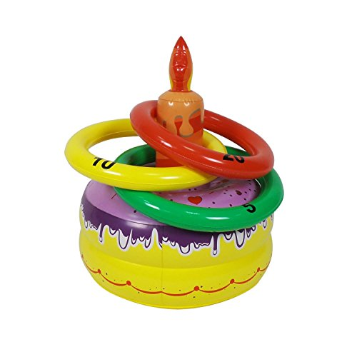 Inflatable Birthday Cake Ring Toss