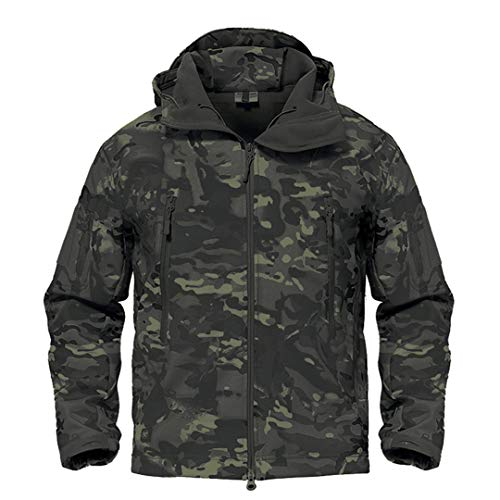 Armée Camouflage Veste Homme Manteau Veste Tactique Militaire d'hiver Randonnée Chasse Softshell Coupe-Vent 2