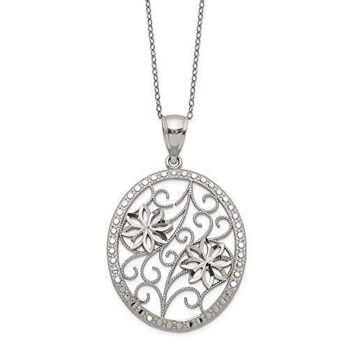 925 Sterling Silver Chain Necklace Pendant Charm Floral Fine Jewelry Gifts For Women For Her