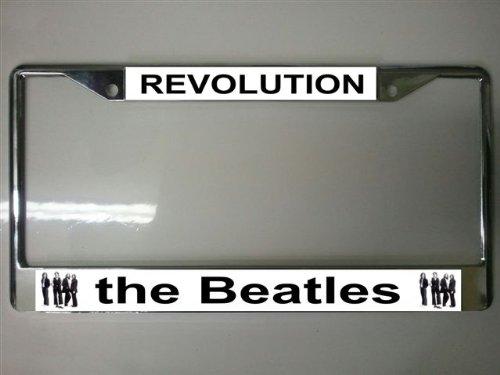 (The Beatles Revolution on White Photo License Plate Frame)