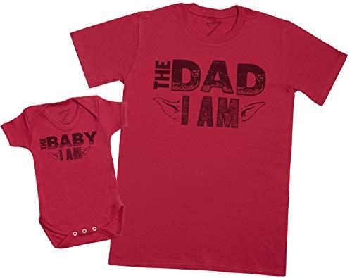The Baby I Am, The Dad I Am – Maak een set – Gecoördineerde cadeauset voor vader en baby – Heren-T-shirt en…