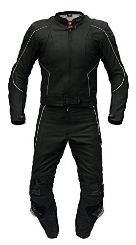 XLS Lederkombi, hochwertiger Zweiteiler in schwarz-matt Top-Preisknüller! (62)