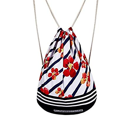 Amazon.com: Autumn Water Drawstring Bag Satchel Print Polyester Drawst Hanged Sack Sport Beach Travel Backpack Pouch Bag Mochila Escolar Daypacks: Kitchen & ...