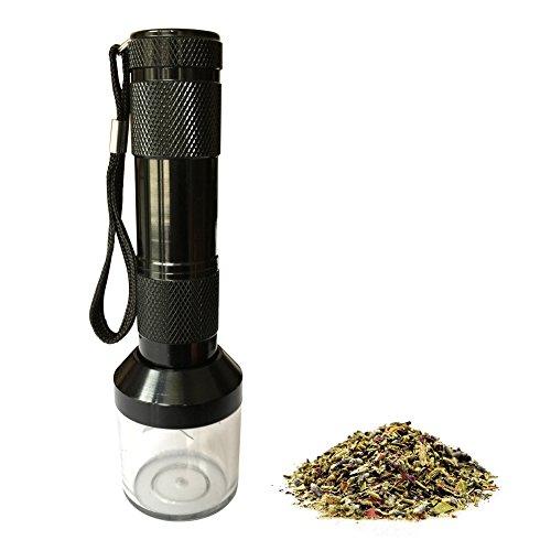 LGtrade® Electronic Herb Tobacco Grinder for Smash Herb Alloy Electronic Metal Grinder Herb Tabacco Crusher Grinder Cracker (black) (Tobacco Products)