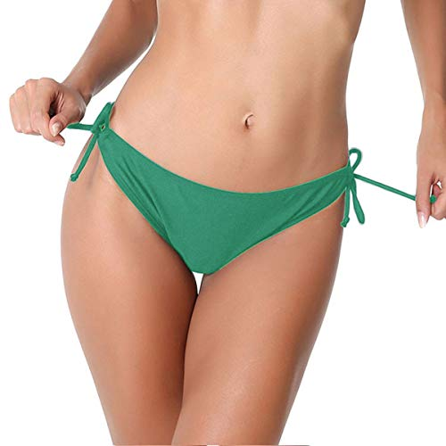 - Lanmiya Bikini Bottom Tie Side Swim Bottom Swimsuit (Green, Medium)