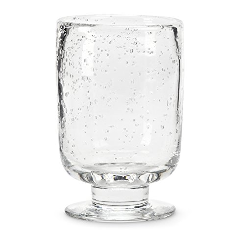 Abbott Collection Medium Seed Glass Footed Hurricane