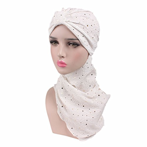 Qhome Fashion Sequined Turban Hijab Pre Tied Bandana Cap Chemo Head Scarf  Hair Cover Sleeping Hat Extra Long Cotton Turbante - Buy Online in Oman. bb1449a50a6c