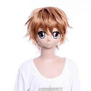 Cosplay Wigs Anime Wigs Party wig Tohru Mutou short half wig brown Costume Wig Hair wig Wigs Costume Wig for party