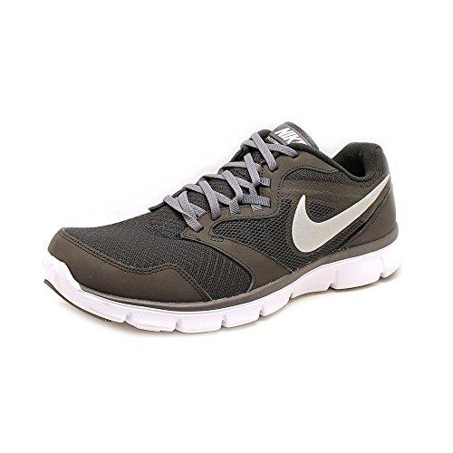 a752aa53333a Nike Men s Flex Experience RN 4 (Black   Metallic Silver   Dark Grey Grey    White) Running Shoe