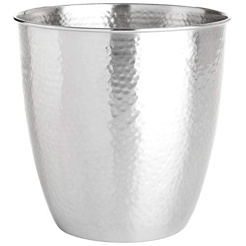 Pier 1 Imports Bathroom Trash Can Hammered Metal Waste Bin by Pier 1 Imports