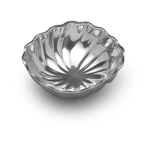 Wilton Armetale Eddy Small Square Serving Bowl,  7.25-Inch-by-7-Inch ()