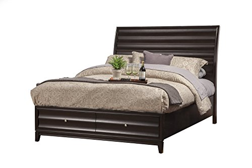 Alpine Furniture 1788-81Q Legacy Storage Bed with 2 Drawers Queen