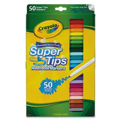 Amazon.com : Crayola 585050 Washable Super Tips Markers, Assorted ...