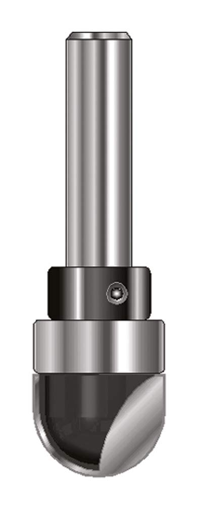 ENT 12500 Hohlkehlfrä ser HW (HM), Schaft (C) 8 mm, Durchmesser (A) 12 mm, B 12 mm, R 6 mm, D 32 mm, mit Kugellager ENT European Norm Tools