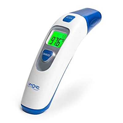 Baby Medical Forehead and Ear Digital Thermometer for Fever - New Infrared Lens Technology for higher Accuracy - VMOND