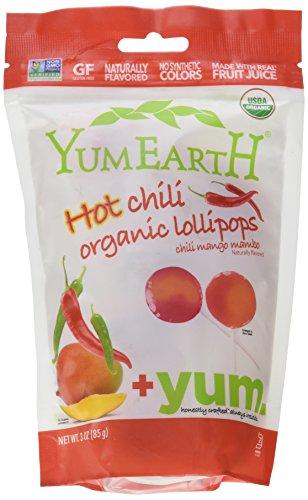 Organic Lollipops Hot Chili Yum Earth 3