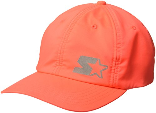 Hat Adjustable Starter (Starter Women's Performance Cap with Wicking and Built-in Headband, Prime Exclusive, Match Coral, One Size)