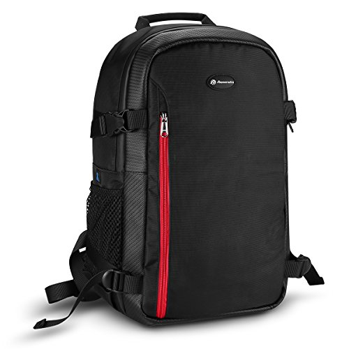 Powerextra Multi-function Large DSLR Camera Backpack Laptop Travel Bag Hiking Bag for Canon 6D, 60D, 5D and Nikon D750, D7100 and More Digital Cameras