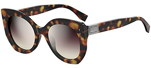 Fendi Peekaboo FF 0265/S 0086 ‑ Havana/Silver Violet - Silver Sunglasses Fendi