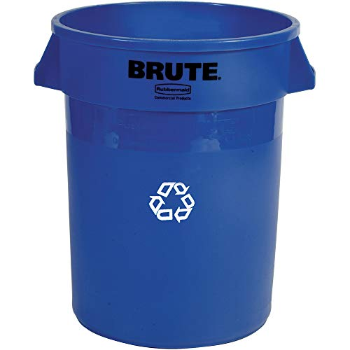 l Products FG262073BLUE BRUTE Heavy-Duty Round Recycling/Composting Bin, 20-Gallon, Blue Recycling ()