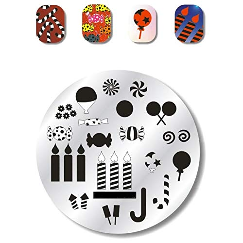 1 Pc Bee Birdie Summer Flower Nail Stamping Plate Perfect Popular Nails Art Stamps Templates Scraper Tools Professional Words Scale Design Halloween Kits, Type-05 -