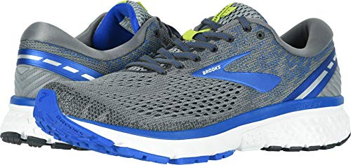 Brooks Men's Ghost 11 Grey/Blue/Silver 11 D - Fire Running Shoe Road