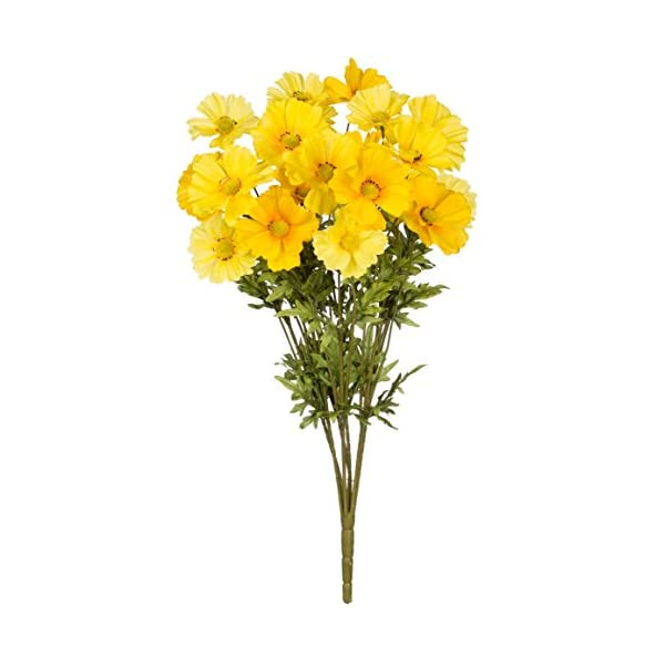 Sullivans Cosmos Bush Artificial Yellow Flower Home Decor