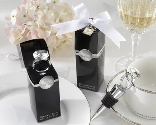 With This Ring Chrome Diamond-Ring Bottle Stopper - Baby Shower Gifts & Wedding Favors (Set of 48) by CutieBeauty KA [並行輸入品]   B01AL007C4