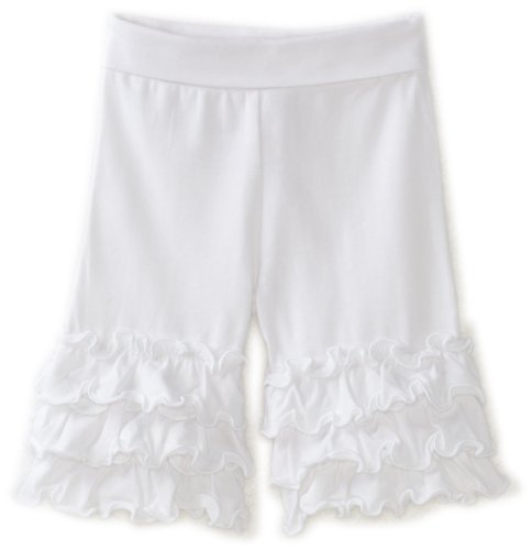 Love U Lots Baby Girls' White Ruffle Yoga Capri