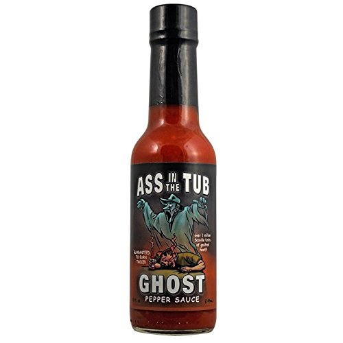 Ass In The Tub Ghost Pepper Sauce (3 Pack) by Ass In (Image #1)'