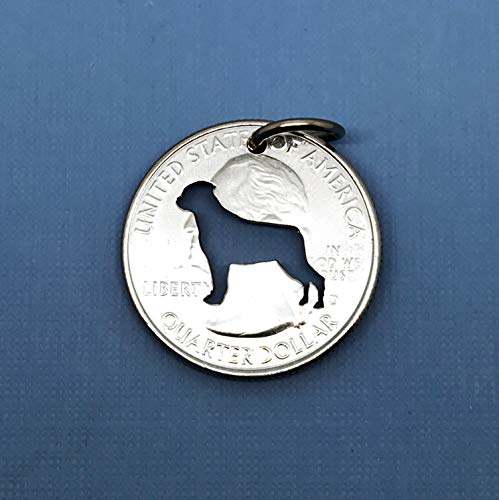 Rottweiler Pendant Necklace or Key Ring Made From a US Quarter