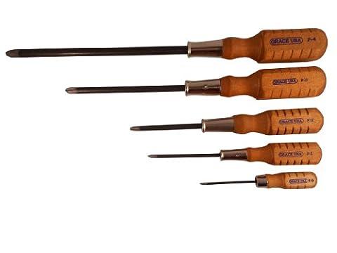 Grace USA - Phillips Screwdriver Set - DP5 - Gunsmithing - Screwdrivers - 5 piece - Gunsmith Tools &