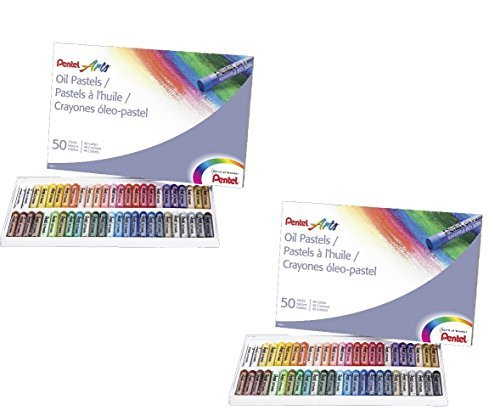 (2 PACK SET - Pentel Arts Oil Pastels, 50 Color Set (PHN-50) 2 Sets!!)