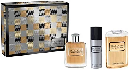 Estuche para hombre Trussardi Riflesso Perfume Eau de Toilette 100 ml + Deo Spray 100 ml + Shower Gel 200 ml Giosal: Amazon.es: Belleza