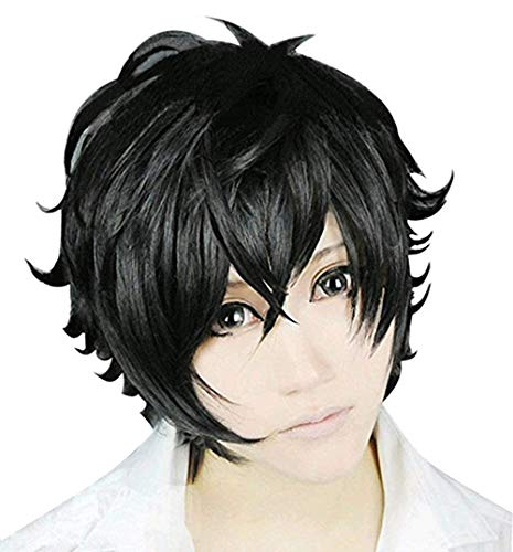 Halloween Persona 5 Protagonist Kurusu Akira Joker Synthetic Hair Short Cosplay Wigs (Free Size) for $<!--$21.99-->
