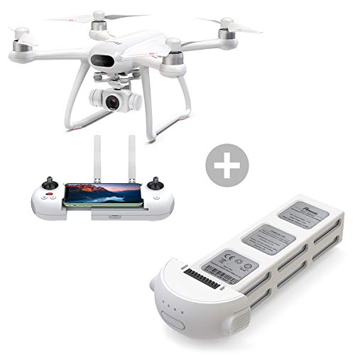 Potensic Dreamer 4K Drone for Adults with Extra Drone Battery(2 Battery in Total), 62mins Flight Time