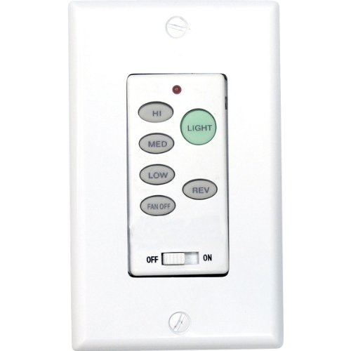 Progress Lighting P2631-30 Full-Function Wall Control Transmitter, White from Progress Lighting