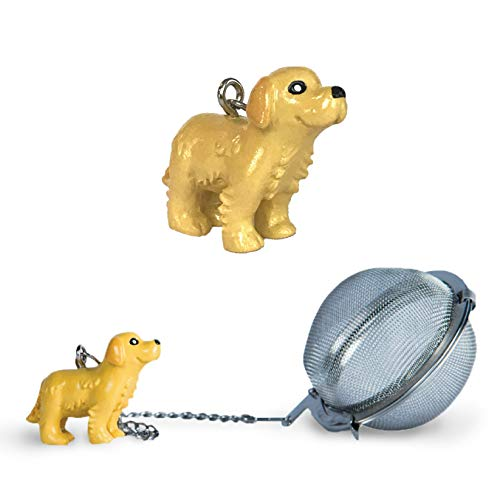 Golden Labrador Retriever Tea Ball Infuser with Charm - Great Gift for Dog Lovers and Veterinarians by Simply Charmed