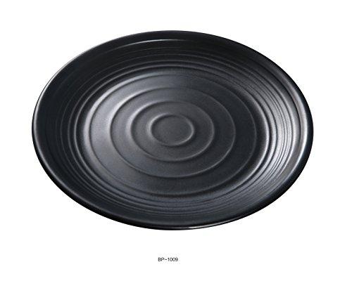 Black Melamine Round Plate - Yanco BP-1009 Black pearl-1 Round Plate, 9
