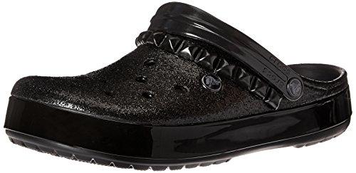 crocs+Unisex+Crocband+Studded+Clog+Mule%2C+Black%2CM6%2FW8